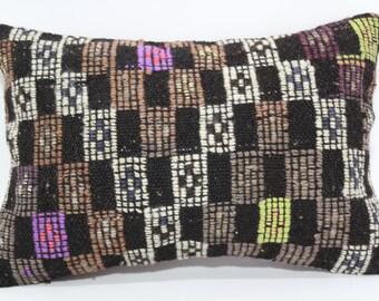 16x24 Decorative Kilim Pillow Throw Pillow Sofa Pillow 16x24 Handwoven Kilim Pillow Fllor Pillow Ethnic Pillow Cushion Cover SP4060-312