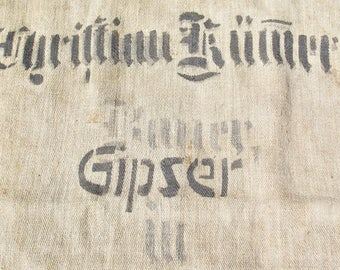 Antique pure LINEN SACK from a craft factory