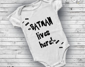 Baby onsie, Black and white, Batman, Baby clothes, Superhero, Baby Boy Outfit, Baby body suit,Baby boy clothes,Rock baby shower,Newborn gift