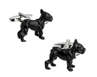 Bull Dog Cufflinks - Free Box-k41 Free Gift Box