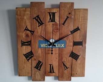 Clock REF: 34. Made of wood and painted by hand