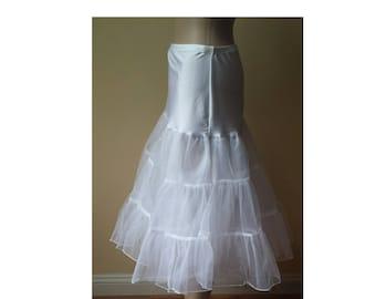 Short Petticoat Short White Petticoat White Wedding Petticoat White Bridal Petticoat White Bridal Underskirt Wedding Dress Underskirt