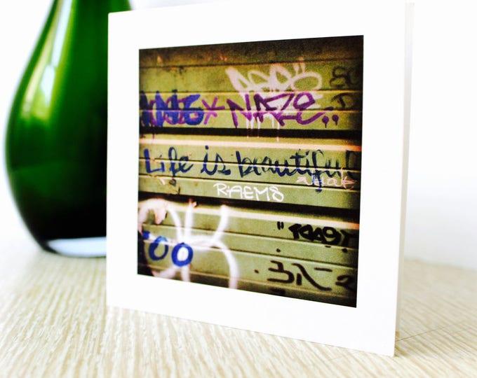 "Birthday/Anniversary Greeting Card ""Life is Beautiful"""