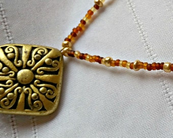 Golden Pendant Necklace