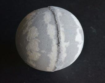Grey satin sheets mango butter bath bomb