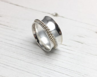 Spinner Ring, Spinning Ring, Anxiety Ring, Silver Spinner Ring, Sterling Silver Statement Ring, Handmade Silver Ring, Silver Ring, Hammered