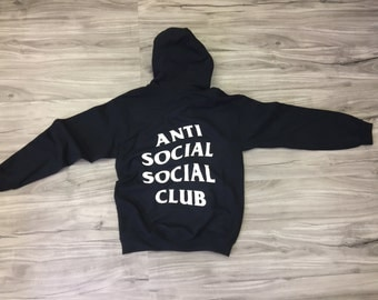 Anti Social Social Club Hoodie - Anti Social Social Club Sweatshirt - assc - (White-Print)