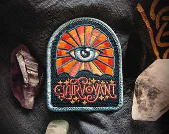"Clairvoyant Patch - Metaphysical Fashion Accessory - 3"" Iron On Embroidered Patch - Magic & Imagination Badge for Psychics and Intuitives"