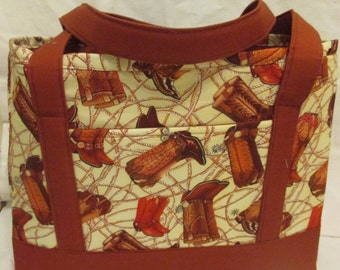 Cowboy/Cowgirl Boot Tote