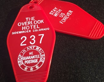 Overlook hotel key tag