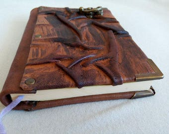 Handmade Leather Diary with Lock, Journal, Daybook, Memorybook Gift for Womens-Mens