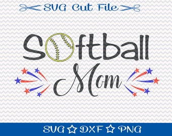 Softball Mom SVG / Softball SVG File / Softball SVG Cut File / Sports Svg / Softball Player Svg / Spring Training svg / Svg Cutting File