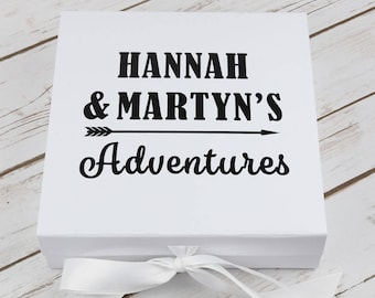 Personalised Keepsake Box - Adventures Box - Memory Box - Gift for Couples - Dads Gift - Personalised Memory Gift