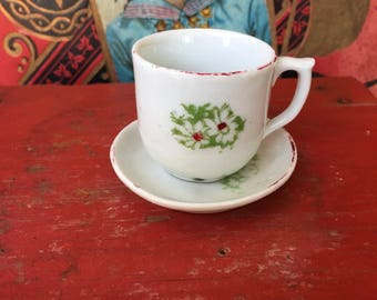 Little Vintage Doll's Porcelain Teacup and Saucer