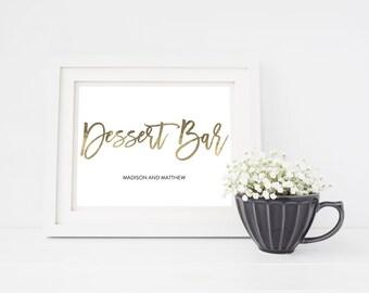 Wedding Sign Template   Desserts Bar Sign   Wedding Sign   Printable Wedding Sign   5x7 & 8x10   EDN 5444
