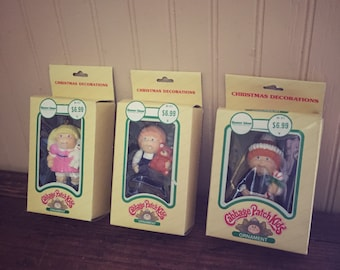 Vintage 1983 Cabbage Patch Kids Christmas Ornaments