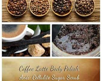 Coffee Latte Body Polish   Anti-Cellulite Sugar Scrub