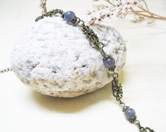 Iolite Bracelet Iolite Jewelry Vintage Bracelet Ethnic Bracelet Beaded Gemstone Bracelet Romantic Bracelet Crystal Bracelet Gift for Her