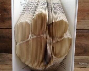 Paw Print Folded Book Art
