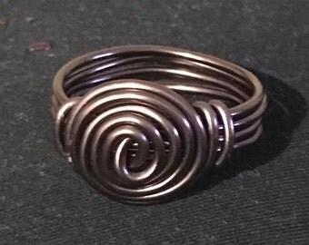 Brown Single Spiral Scarf Holder