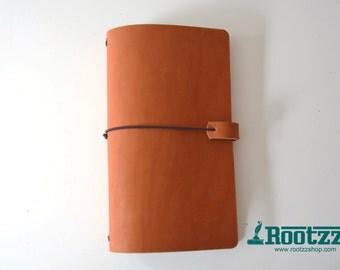 RGXL Traveler's notebook cognac velvet - midori like- fauxdori