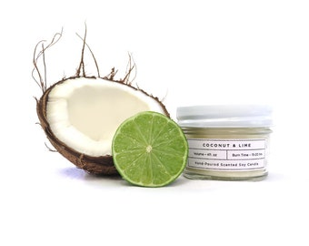 Coconut & Lime Soy Candle - 4oz