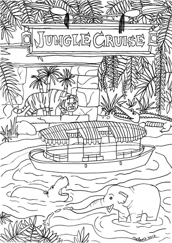 Disney Inspired Jungle Cruise Coloring Page Printable