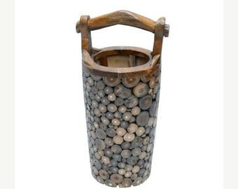 20% off this item Detailed Teak Root Umbrella Stand