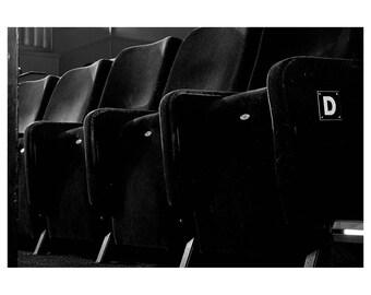 Wall Art, Cinema, Black and White Photography, Art, Print, Film, Movie, Art Deco, Retro, Noir, Fine Art