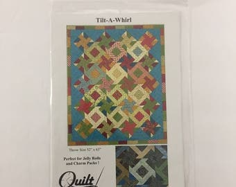 """Quilt Moments Tilt-A-Whirl 52"""" x 61"""" Quilt Pattern/Kit; quilt pattern, quilt kit, quilting craft, sewing pattern, quilting kit"""