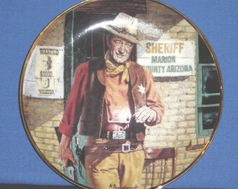John Wayne, American Legend ~ Collector Plate with Certificate - Pre-owned (SS)