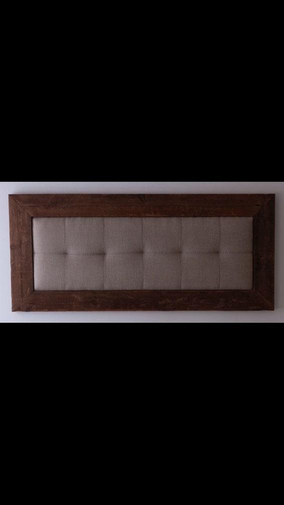 Wood and fabric headboard.