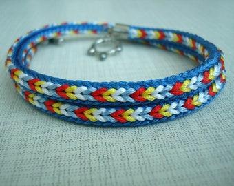 Colorful braided kumihimo bracelet Gift idea for her Boho bracelet Bracelet for women Japan style Gift for wife Teen girl gift