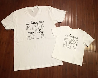 Love you forever mom and child matching shirts