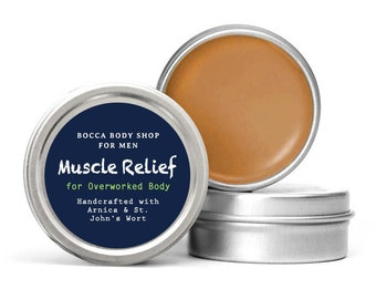 Muscle Relief Healing Salve for Overworked Body, Arnica & St. John's Wort Oils Soothe and Heal Sore Muscles All Natural Balm