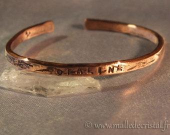 Born BRACELET For CHILD - NAME Engraved - Copper