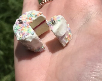 Polymer Clay best friends rainbow Cake charm