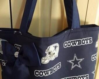 Dallas Cowboys Tote Bag with matching key Fob
