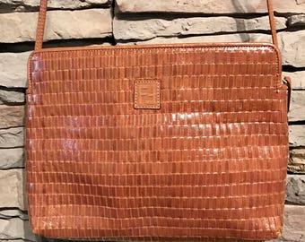 Vintage FENDI WOVEN LEATHER Purse Hand Bag