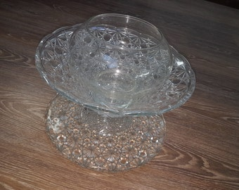 Crystal vase do hand 4 pieces