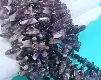 Natural Amethyst chip beads, Top Drilled Amethyst Chips,Amethyst Drilled Chips, Natural Amethyst Chips, Amethyst Chips,Amethyst Stones,Chips