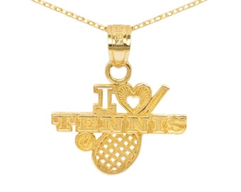 10k Yellow Gold Tennis Necklace