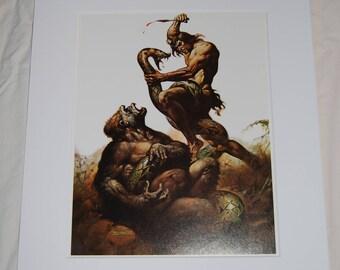 Boris Vallejo Matted Print - Tarzan, Lord of the Jungle - 1976