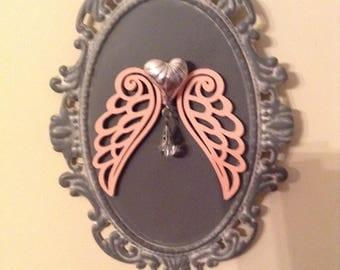 Small Peach Angel Wings