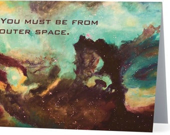 Seahorse in the Large Magellanic Cloud Greeting Card