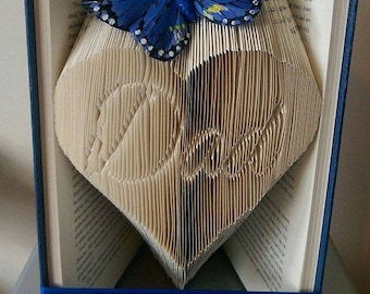 Dad in full heart folded book - Father's day - dad - daddy - love - heart - birthday