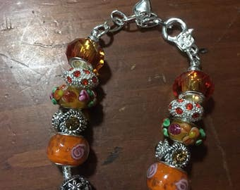Orange Delight european style bracelet