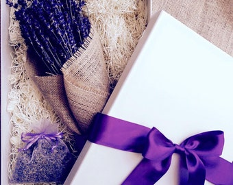 Lavender Gift pack - dried Lavender satchel - dried lavender bunch