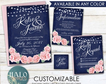 Rose Wedding Invitations - Invitation Kit