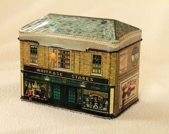 House Shaped Biscuit/Sweet Tin - Waitrose Stores